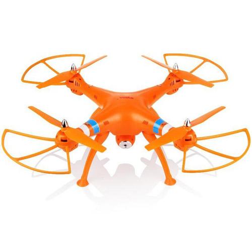 Оранжевый Радиоуправляемый Квадрокоптер Syma X8W с трансляцией видео в реальном времени