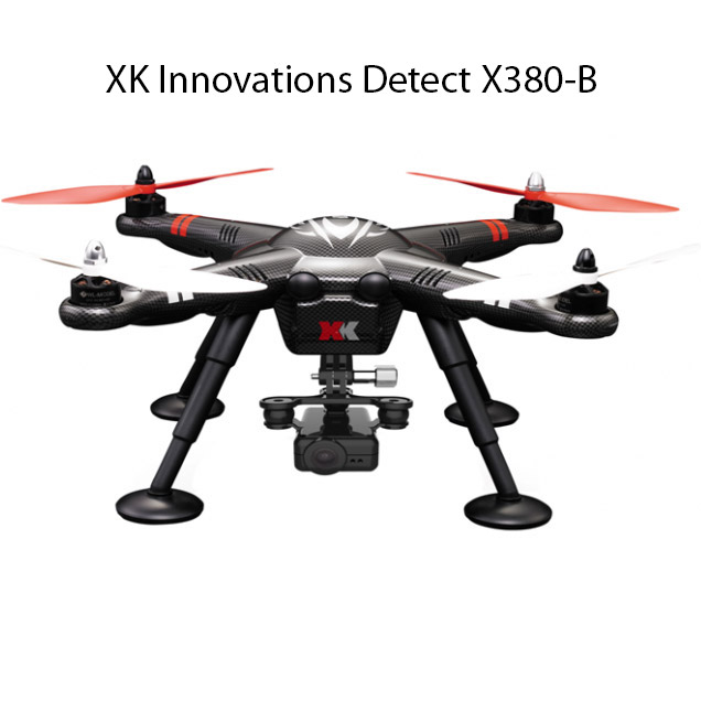 Квадрокоптер XK Innovations Detect X380 с HD камерой (30 см, 2.4Ghz) - Фото