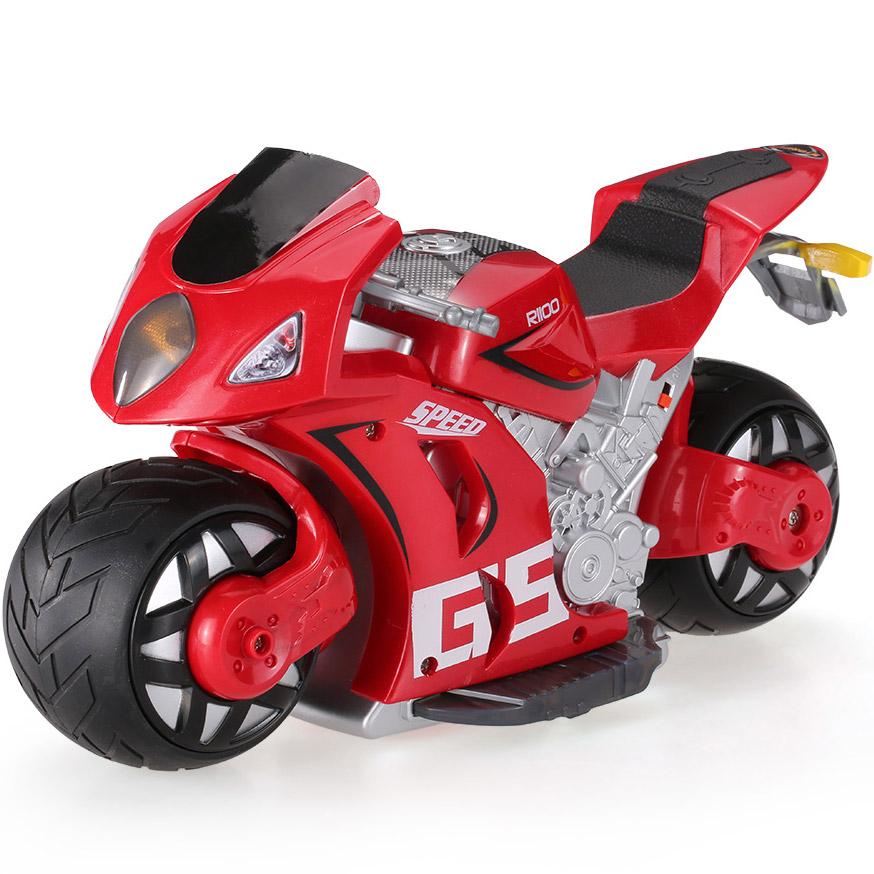 Красный Радиоуправляемый Мотоцикл с рулем (1:8, 27 см.)