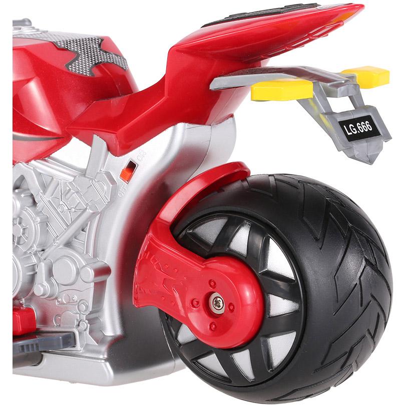 Радиоуправляемый Мотоцикл с рулем (1:8, 27 см.) - Картинка