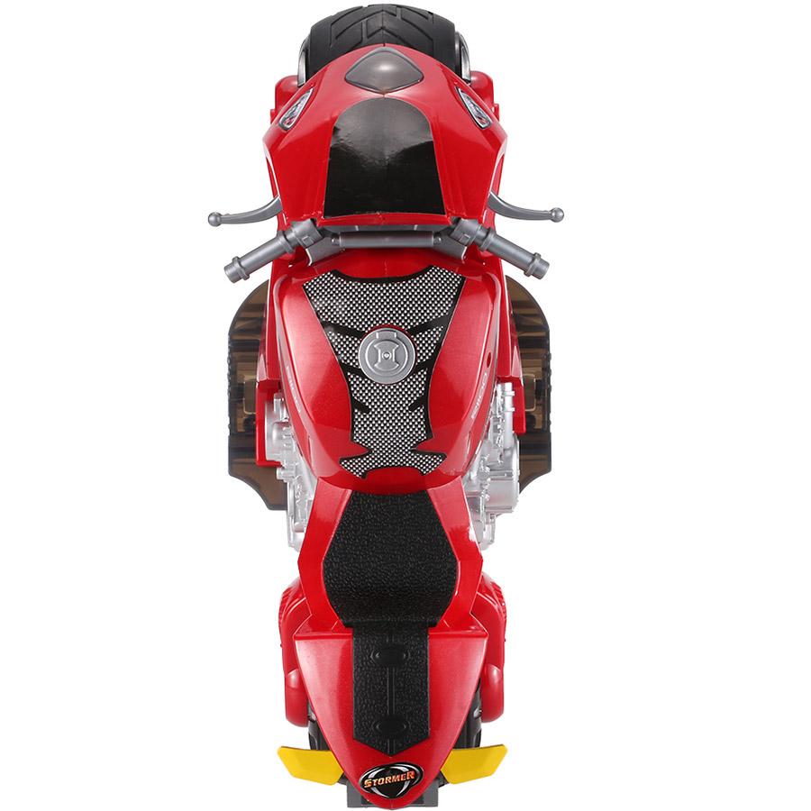 Радиоуправляемый Мотоцикл с рулем (1:8, 27 см.) - Изображение