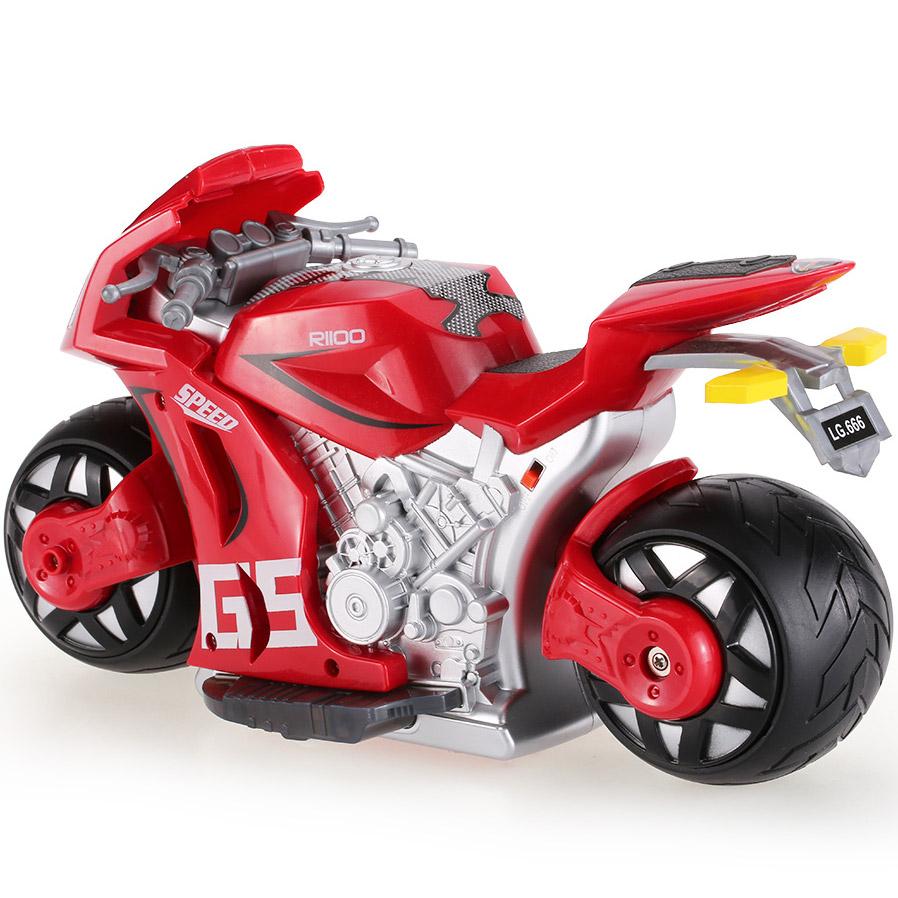 Радиоуправляемый Мотоцикл с рулем (1:8, 27 см.) - Фото