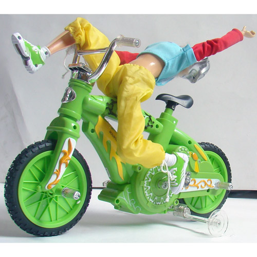 Радиоуправляемый велосипед с куклой (30 см) - Фотография