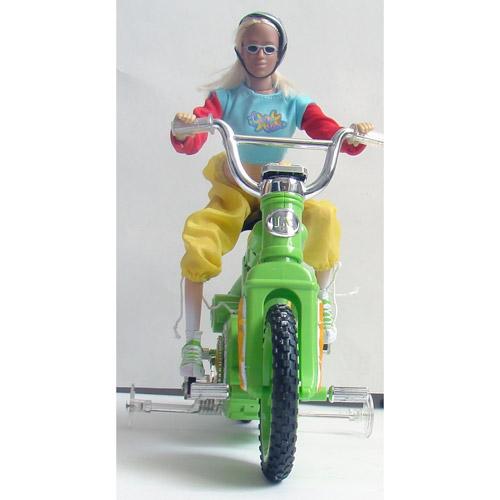 Радиоуправляемый велосипед с куклой (30 см) - Изображение