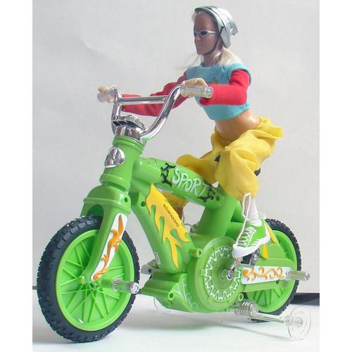 Радиоуправляемый велосипед с куклой (30 см) - Картинка