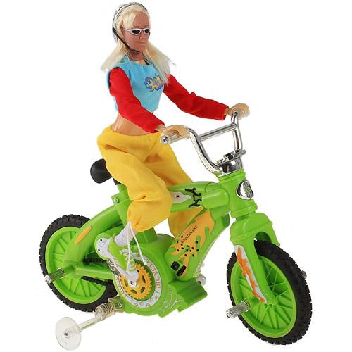 Радиоуправляемый велосипед с куклой (30 см)