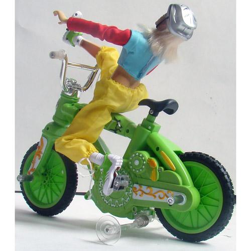 Радиоуправляемый велосипед с куклой (30 см) - Фото
