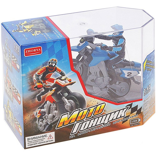 Радиоуправляемый Мотоцикл Стантрайдинг встает на заднее колесо (1:43, 8 см)