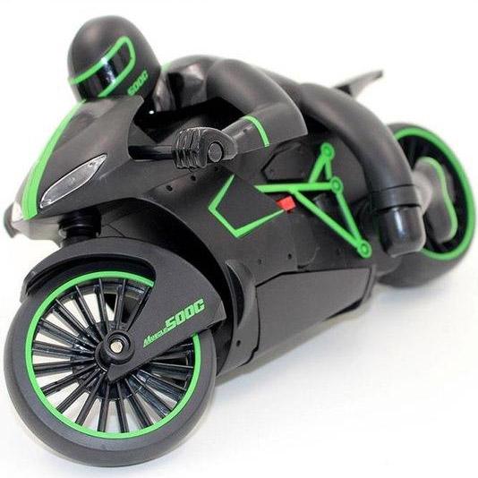 Зеленый Радиоуправляемый Спортбайк Lightning (1:12, 24 см.)