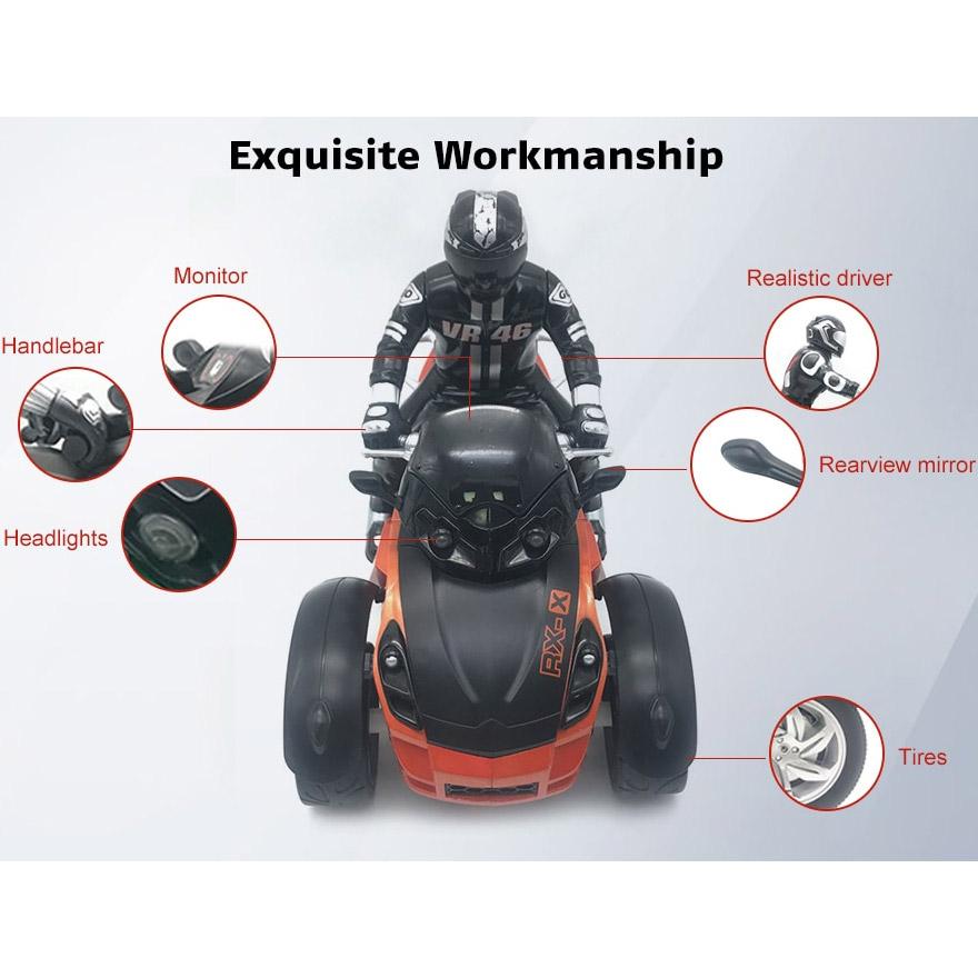 Радиоуправляемый Трехколесный мотоцикл (1:10, 27 см.) - Фотография