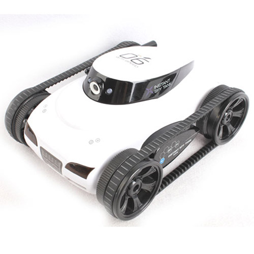 Белый Танк-шпион с видеокамерой i-spy tank
