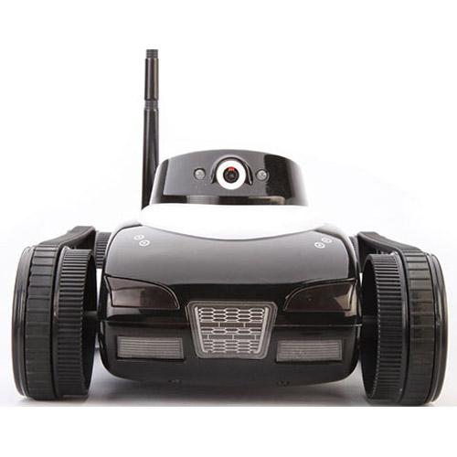 Черный Танк-шпион с видеокамерой i-spy tank
