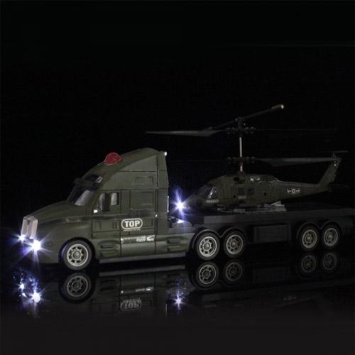 Набор радиоуправляемые тягач и вертолет (34 см.) - Изображение