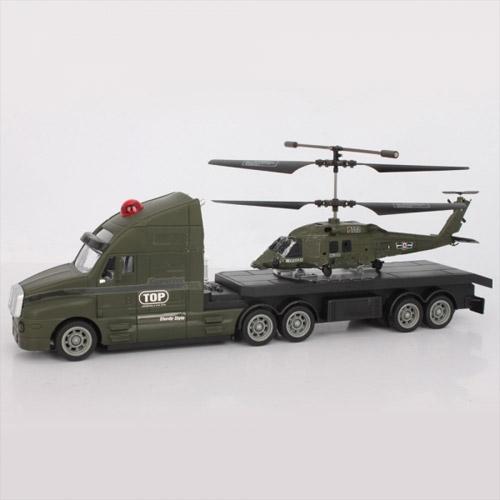 Набор радиоуправляемые тягач и вертолет (34 см.)