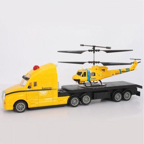 Набор радиоуправляемые тягач и вертолет (34 см.) - Фото