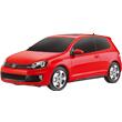 Красный Маленькая радиоуправляемая машинка Volkswagen Golf GTI (1:24, 17 см)