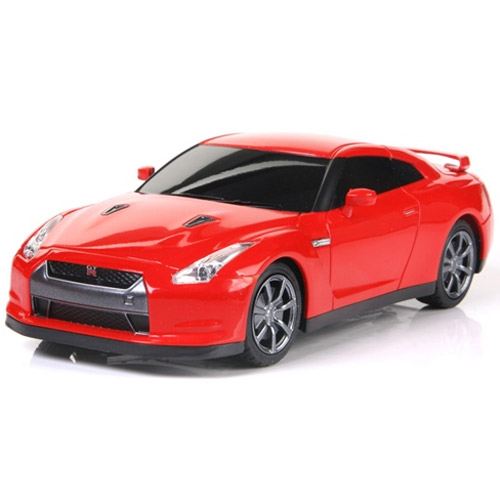 Красный Маленькая Радиоуправляемая Машинка Nissan GTR (1:24, 17 см)