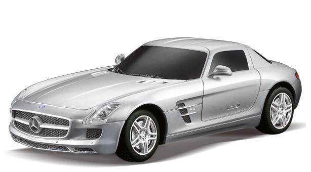 Маленькая радиоуправляемая машинка Mercedes-Benz SLS AMG (1:24, 17 см)