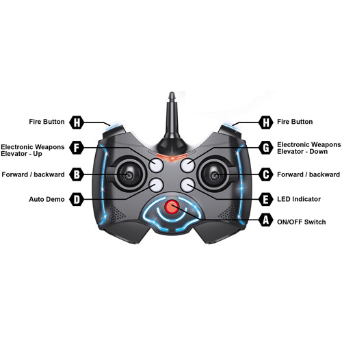 Радиоуправляемый боевой дрон на колесах (стреляет, 2.4 GHz, 36 см.) - В интернет-магазине