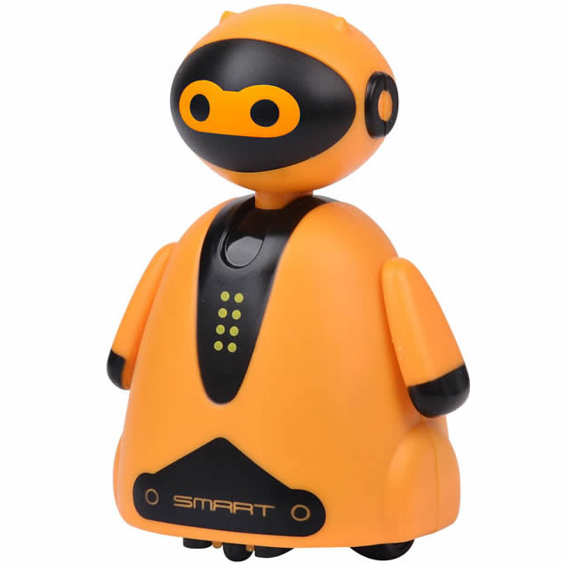 Оранжевый Индукционный робот (едет по нарисованной линии, 9 см.)