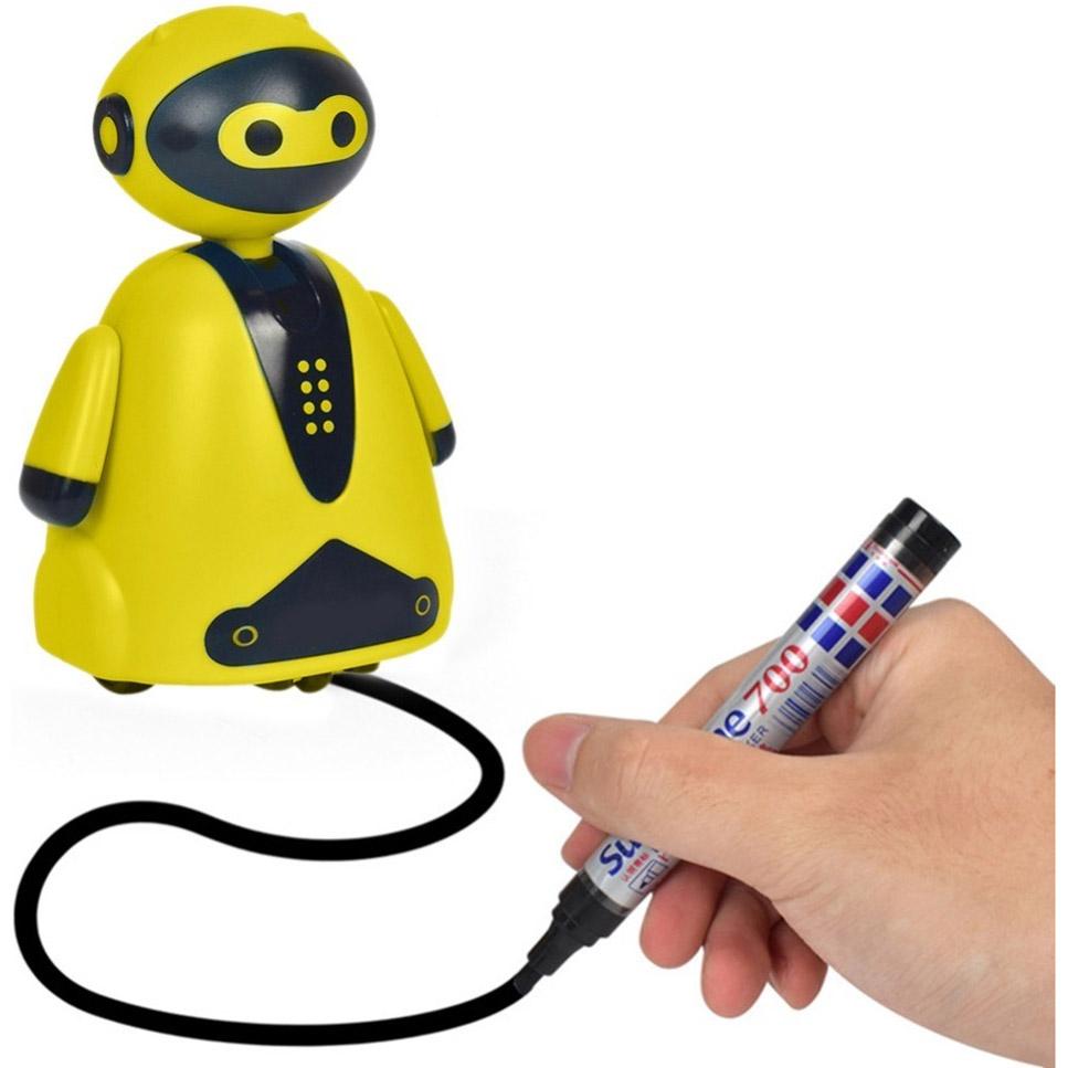Индукционный робот (едет по нарисованной линии, 9 см.)