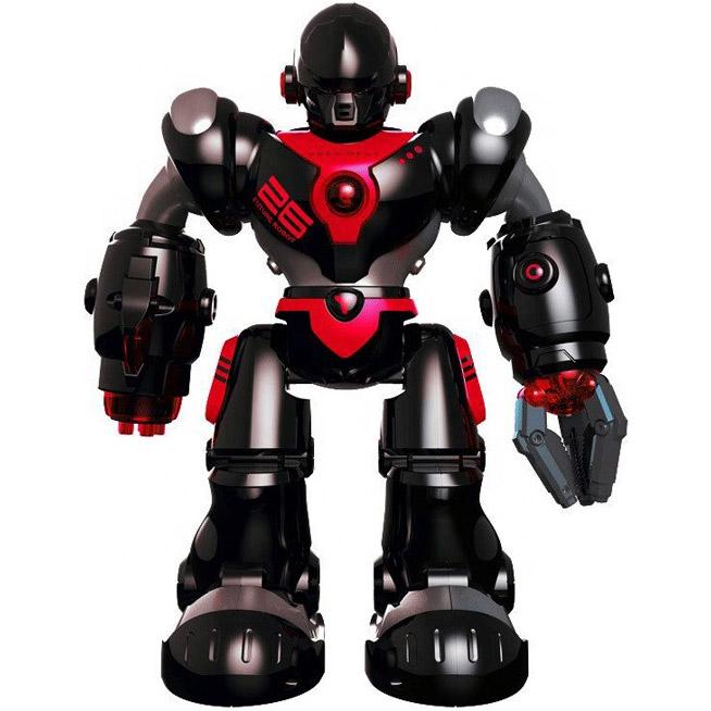 Черный Радиоуправляемый робот Кибервоин (стреляет присосками, 36 см.)