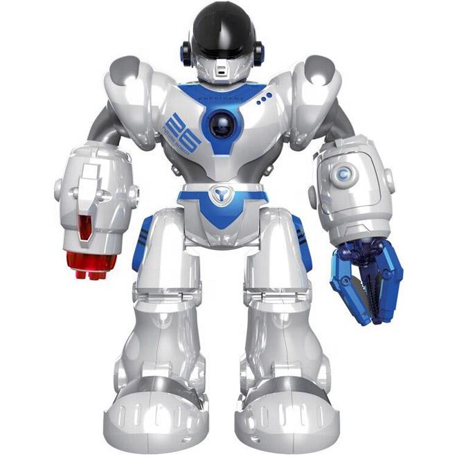 Белый Радиоуправляемый робот Кибервоин (стреляет присосками, 36 см.)