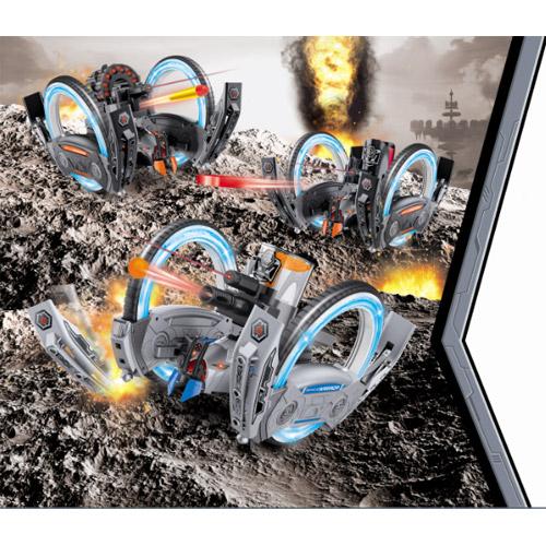Радиоуправляемый боевой дрон на колесах (стреляет, 2.4 GHz, 36 см.) - Фотография