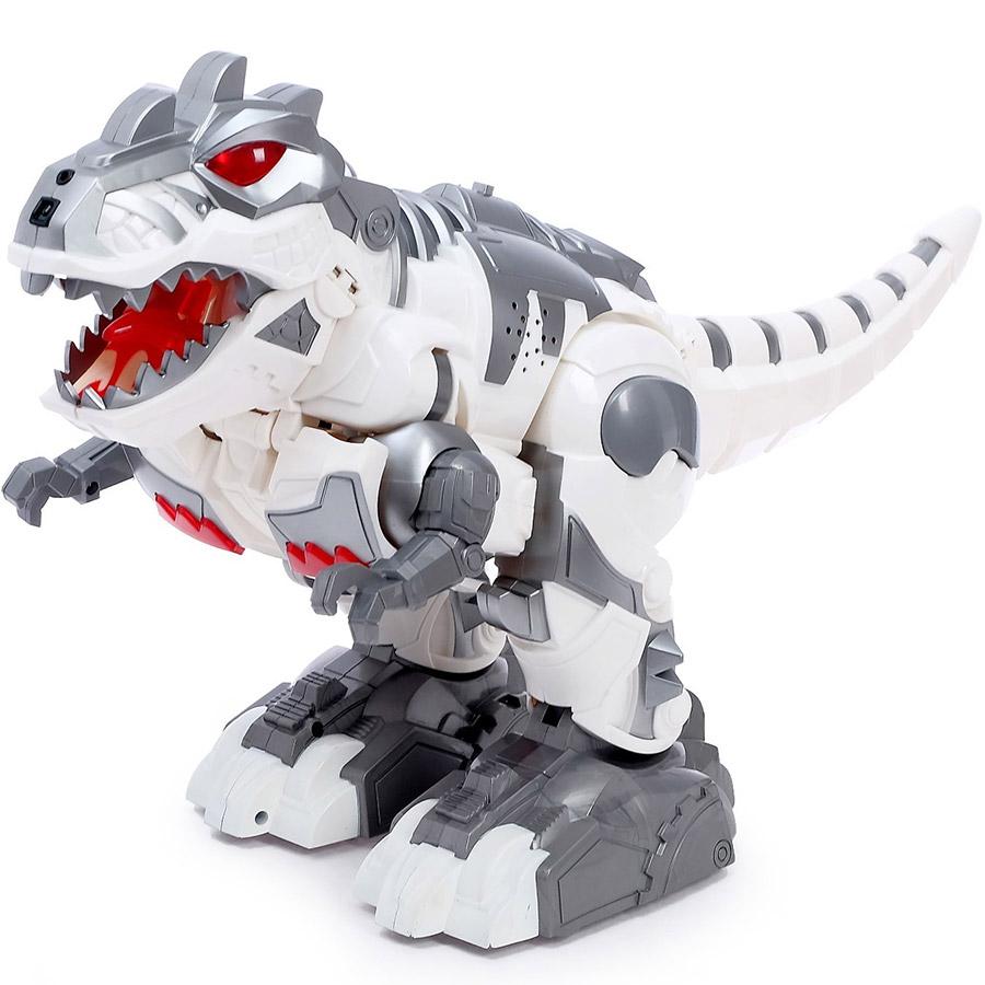 Серый Радиоуправляемый трансформер Робо-динозавр Armored Dragon (36 см)
