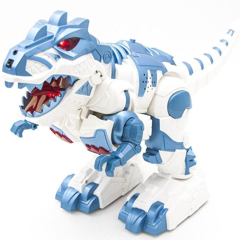 Голубой Радиоуправляемый трансформер Робо-динозавр Armored Dragon (36 см)