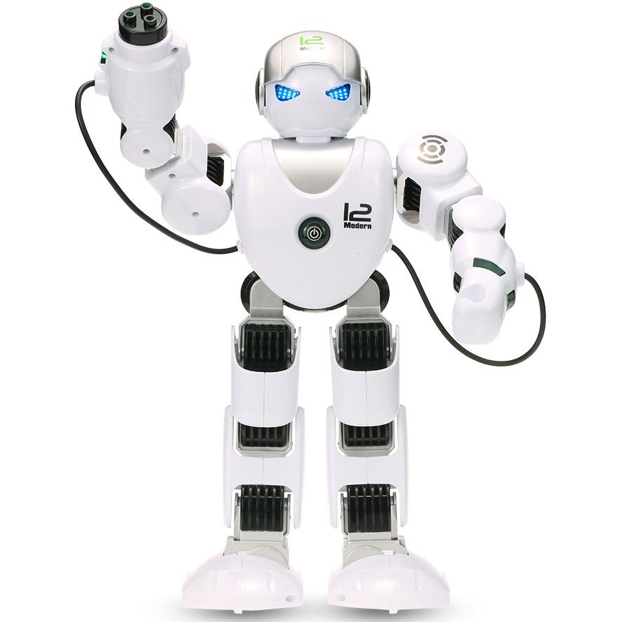 Белый Радиоуправляемый робот Z-Alpha (стреляет ракетами, 39 см.)