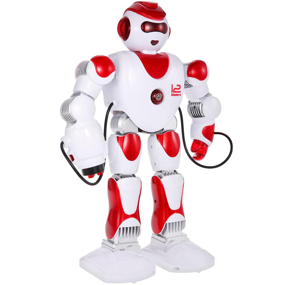 Красный Радиоуправляемый робот Z-Alpha (стреляет ракетами, 39 см.)