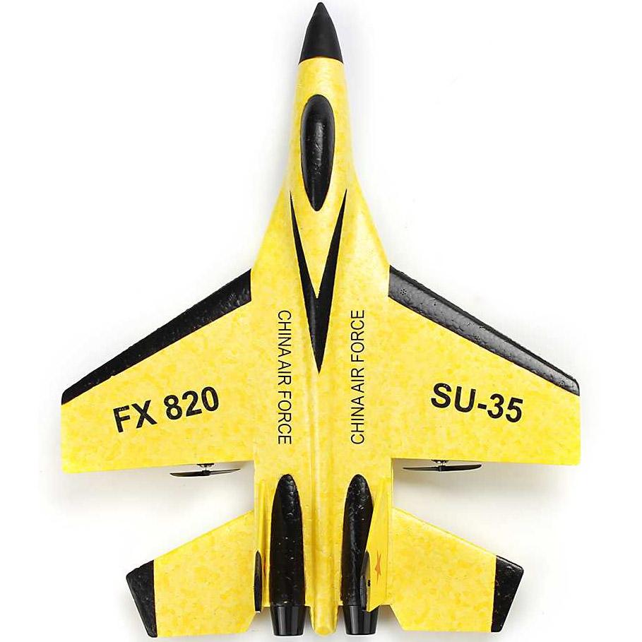Желтый Радиоуправляемый Самолет СУ-35 (28 см, 2.4GHz)