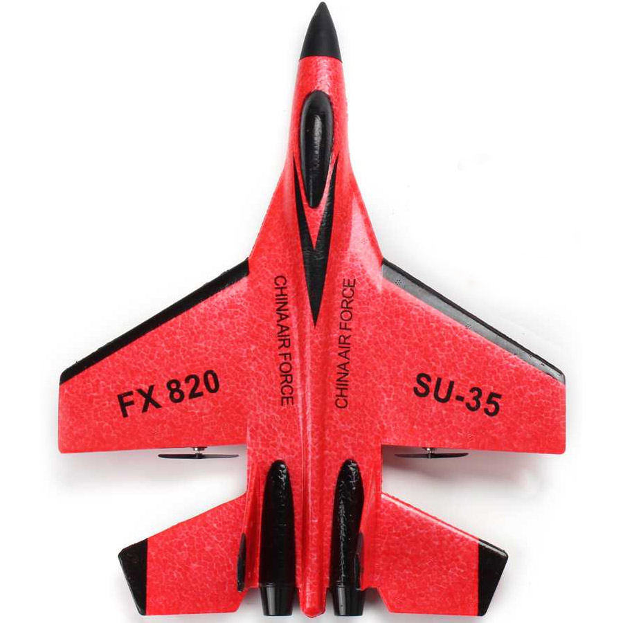 Красный Радиоуправляемый Самолет СУ-35 (28 см, 2.4GHz)