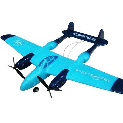 Бирюзовый Самолет с двумя винтами