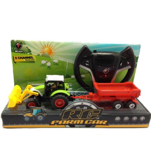 Радиоуправляемый трактор с прицепом - Фотография