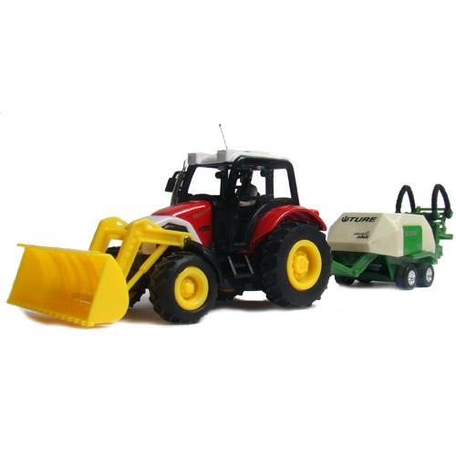 Радиоуправляемый трактор с прицепом