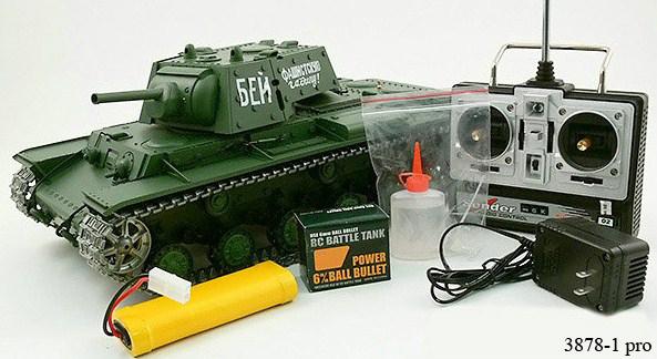 Радиоуправляемый танк КВ-1 «Клим Ворошилов» с пневмопушкой - В интернет-магазине