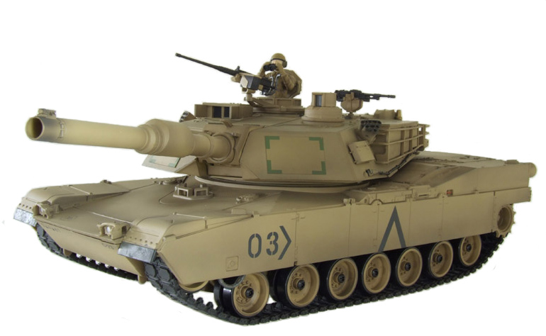 Радиоуправляемый Танк «Абрамс» Abrams M1A2 (пневмо, 1:24, 41 см.)
