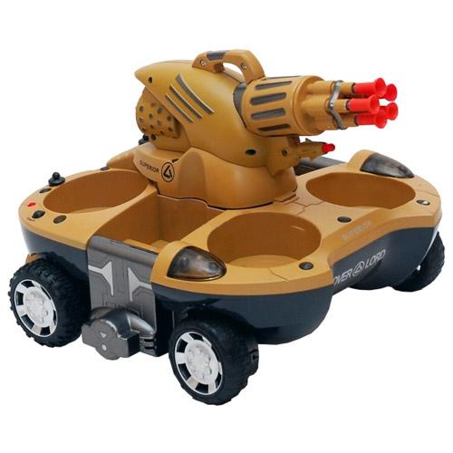 Радиоуправляемый танк-амфибия стреляющий присосками