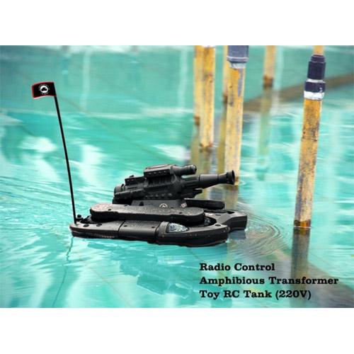 Радиоуправляемый Танк-амфибия (брызгает водой, 25 см.)