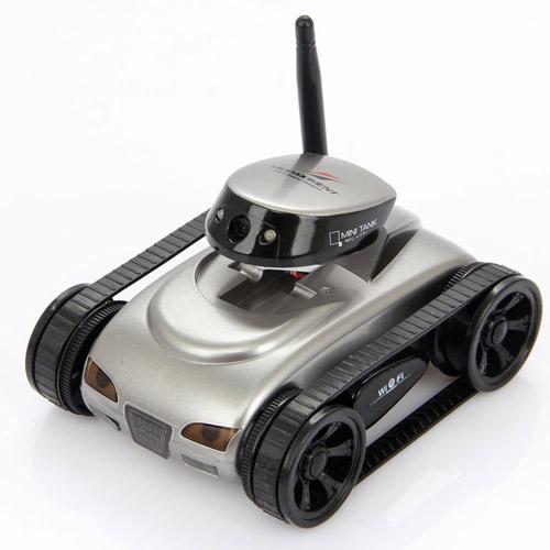 Мини танк-шпион iSpy tank управление по Wi-Fi (12 см.)