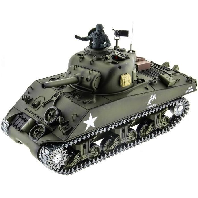 Радиоуправляемый Танк U.S. M4A3 Sherman (пневмопушка, 1:16, 52 см.)
