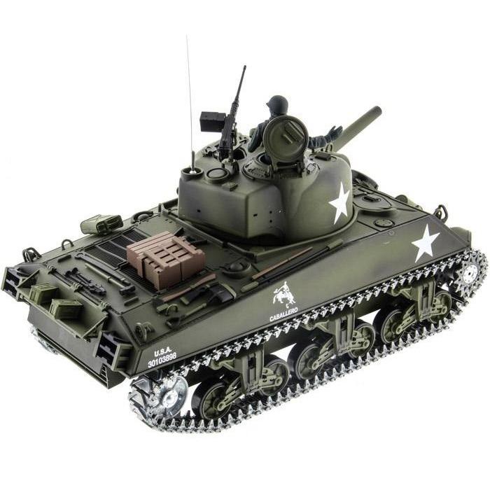 Радиоуправляемый Танк U.S. M4A3 Sherman (пневмопушка, 1:16, 52 см.) - Фото