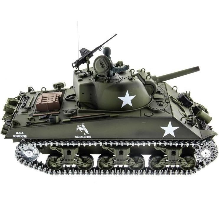 Радиоуправляемый Танк U.S. M4A3 Sherman (пневмопушка, 1:16, 52 см.) - Фотография