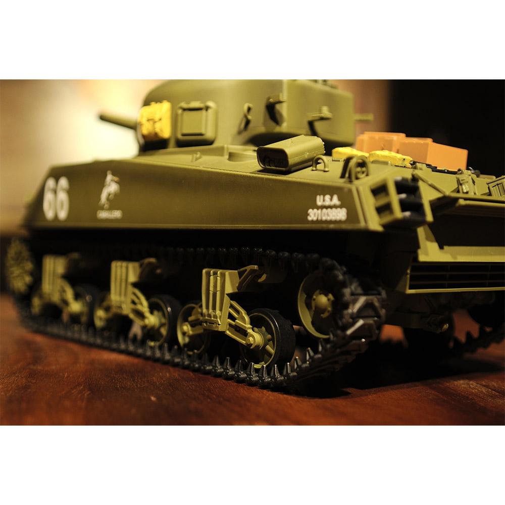 Радиоуправляемый Танк U.S. M4A3 Sherman (пневмопушка, 1:16, 52 см.) - Картинка