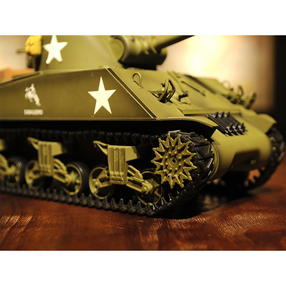 Радиоуправляемый Танк U.S. M4A3 Sherman (пневмопушка, 1:16, 52 см.) - Изображение