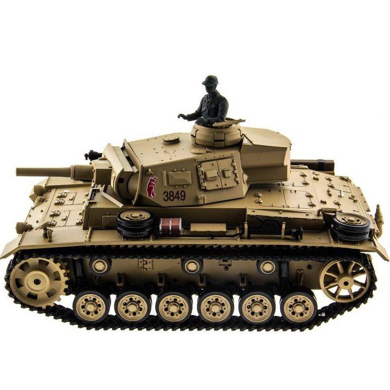 Радиоуправляемый Танк Panzer III с пневмопушкой (1:16, 54 см.) - Фото