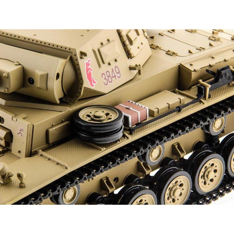 Радиоуправляемый Танк Panzer III с пневмопушкой (1:16, 54 см.) - Картинка