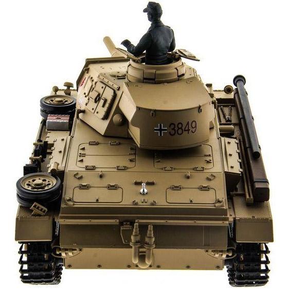 Радиоуправляемый Танк Panzer III с пневмопушкой (1:16, 54 см.) - В интернет-магазине